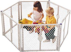 Fenced in children